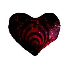 Bassnectar Galaxy Nebula Standard 16  Premium Heart Shape Cushions by Onesevenart