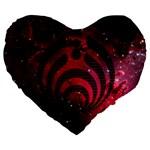 Bassnectar Galaxy Nebula Large 19  Premium Flano Heart Shape Cushions
