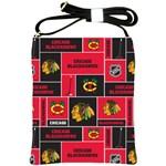 Chicago Blackhawks Nhl Block Fleece Fabric Shoulder Sling Bags