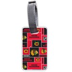 Chicago Blackhawks Nhl Block Fleece Fabric Luggage Tags (Two Sides)