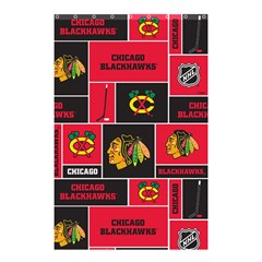 Chicago Blackhawks Nhl Block Fleece Fabric Shower Curtain 48  X 72  (small)  by Onesevenart