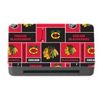 Chicago Blackhawks Nhl Block Fleece Fabric Memory Card Reader with CF