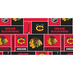 Chicago Blackhawks Nhl Block Fleece Fabric You Are Invited 3d Greeting Card (8x4) by Onesevenart