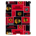 Chicago Blackhawks Nhl Block Fleece Fabric Apple iPad 3/4 Hardshell Case (Compatible with Smart Cover)