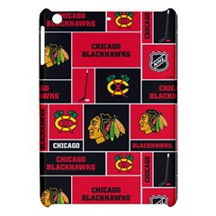 Chicago Blackhawks Nhl Block Fleece Fabric Apple Ipad Mini Hardshell Case by Onesevenart