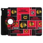 Chicago Blackhawks Nhl Block Fleece Fabric Apple iPad Mini Flip 360 Case