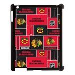 Chicago Blackhawks Nhl Block Fleece Fabric Apple iPad 3/4 Case (Black)