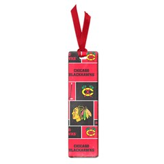 Chicago Blackhawks Nhl Block Fleece Fabric Small Book Marks by Onesevenart