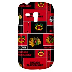Chicago Blackhawks Nhl Block Fleece Fabric Samsung Galaxy S3 Mini I8190 Hardshell Case by Onesevenart