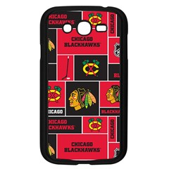 Chicago Blackhawks Nhl Block Fleece Fabric Samsung Galaxy Grand Duos I9082 Case (black) by Onesevenart
