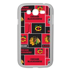 Chicago Blackhawks Nhl Block Fleece Fabric Samsung Galaxy Grand Duos I9082 Case (white) by Onesevenart