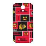 Chicago Blackhawks Nhl Block Fleece Fabric Samsung Galaxy S4 I9500/I9505  Hardshell Back Case