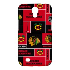 Chicago Blackhawks Nhl Block Fleece Fabric Samsung Galaxy Mega 6 3  I9200 Hardshell Case by Onesevenart