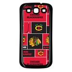 Chicago Blackhawks Nhl Block Fleece Fabric Samsung Galaxy S3 Back Case (Black)