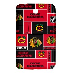 Chicago Blackhawks Nhl Block Fleece Fabric Samsung Galaxy Tab 3 (7 ) P3200 Hardshell Case  by Onesevenart