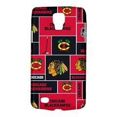 Chicago Blackhawks Nhl Block Fleece Fabric Galaxy S4 Active by Onesevenart