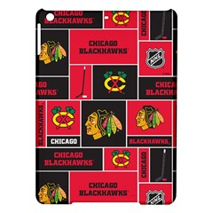 Chicago Blackhawks Nhl Block Fleece Fabric Ipad Air Hardshell Cases by Onesevenart