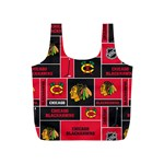 Chicago Blackhawks Nhl Block Fleece Fabric Full Print Recycle Bags (S)