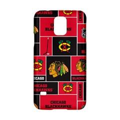 Chicago Blackhawks Nhl Block Fleece Fabric Samsung Galaxy S5 Hardshell Case  by Onesevenart