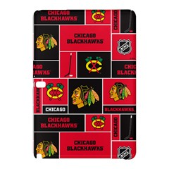 Chicago Blackhawks Nhl Block Fleece Fabric Samsung Galaxy Tab Pro 10 1 Hardshell Case by Onesevenart