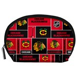 Chicago Blackhawks Nhl Block Fleece Fabric Accessory Pouches (Large)