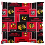 Chicago Blackhawks Nhl Block Fleece Fabric Standard Flano Cushion Case (Two Sides)