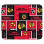 Chicago Blackhawks Nhl Block Fleece Fabric Double Sided Flano Blanket (Small)