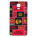 Chicago Blackhawks Nhl Block Fleece Fabric Galaxy Note 4 Back Case