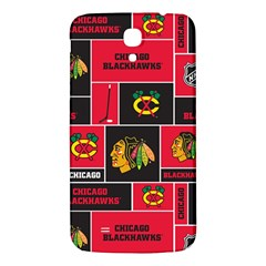 Chicago Blackhawks Nhl Block Fleece Fabric Samsung Galaxy Mega I9200 Hardshell Back Case by Onesevenart