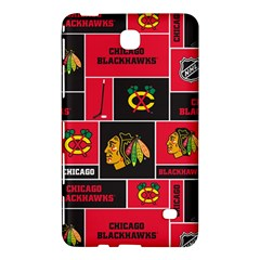 Chicago Blackhawks Nhl Block Fleece Fabric Samsung Galaxy Tab 4 (8 ) Hardshell Case  by Onesevenart