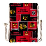 Chicago Blackhawks Nhl Block Fleece Fabric Drawstring Bag (Large)
