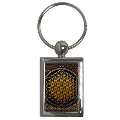 Bring Me The Horizon Cover Album Gold Key Chains (rectangle)  by Onesevenart