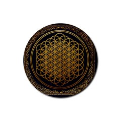 Bring Me The Horizon Cover Album Gold Rubber Coaster (round)  by Onesevenart
