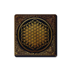 Bring Me The Horizon Cover Album Gold Square Magnet by Onesevenart