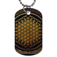 Bring Me The Horizon Cover Album Gold Dog Tag (two Sides) by Onesevenart