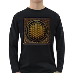 Bring Me The Horizon Cover Album Gold Long Sleeve Dark T Shirts by Onesevenart