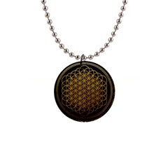 Bring Me The Horizon Cover Album Gold Button Necklaces by Onesevenart