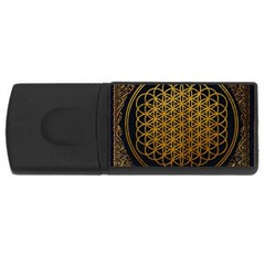 Bring Me The Horizon Cover Album Gold Usb Flash Drive Rectangular (4 Gb)  by Onesevenart