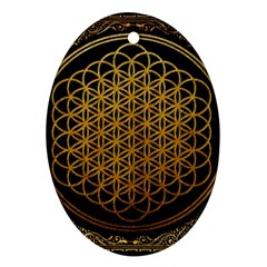 Bring Me The Horizon Cover Album Gold Oval Ornament (two Sides) by Onesevenart
