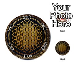 Bring Me The Horizon Cover Album Gold Playing Cards 54 (round)  by Onesevenart