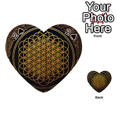 Bring Me The Horizon Cover Album Gold Playing Cards 54 (heart)  by Onesevenart