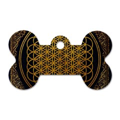 Bring Me The Horizon Cover Album Gold Dog Tag Bone (one Side) by Onesevenart