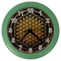 Bring Me The Horizon Cover Album Gold Color Wall Clocks by Onesevenart