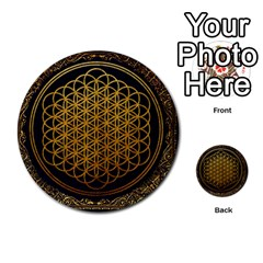 Bring Me The Horizon Cover Album Gold Multi Purpose Cards (round)  by Onesevenart