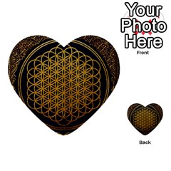 Bring Me The Horizon Cover Album Gold Multi Purpose Cards (heart)  by Onesevenart