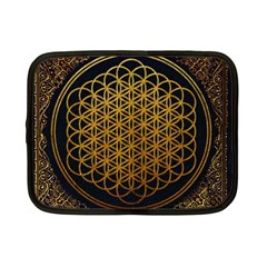 Bring Me The Horizon Cover Album Gold Netbook Case (small)  by Onesevenart