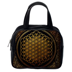 Bring Me The Horizon Cover Album Gold Classic Handbags (one Side) by Onesevenart