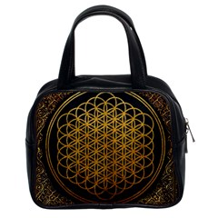 Bring Me The Horizon Cover Album Gold Classic Handbags (2 Sides) by Onesevenart