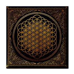 Bring Me The Horizon Cover Album Gold Face Towel by Onesevenart