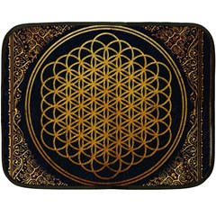 Bring Me The Horizon Cover Album Gold Double Sided Fleece Blanket (mini)  by Onesevenart